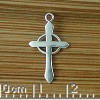 Cross on Circle Charm