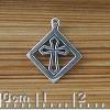 Bordered Cross Charm