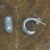 Art Deco Mock Hoop Earrings