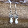 Dainty Pearl Drop Earrings 5ricepl